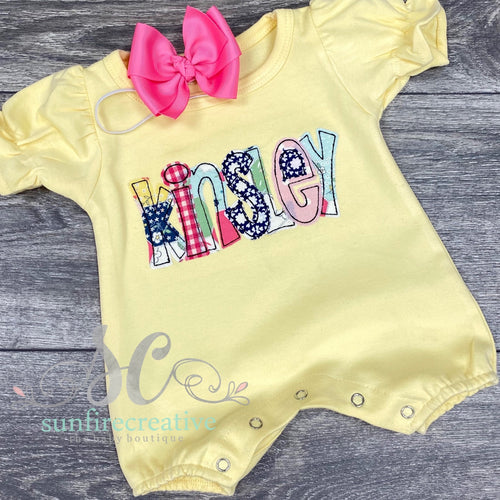 Yellow Bubble Romper
