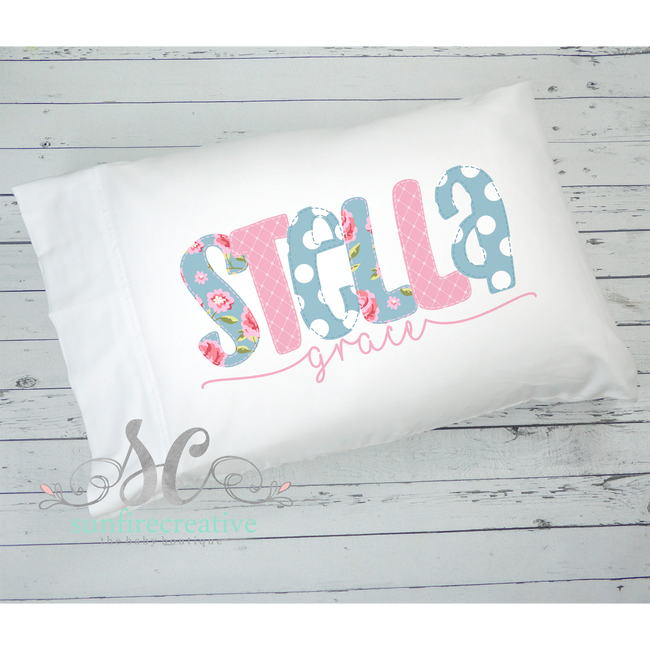 Pink Shabby Pillowcase - Sunfire Creative Baby Boutique