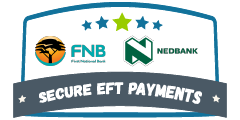 We bank with FNB and Nedbank