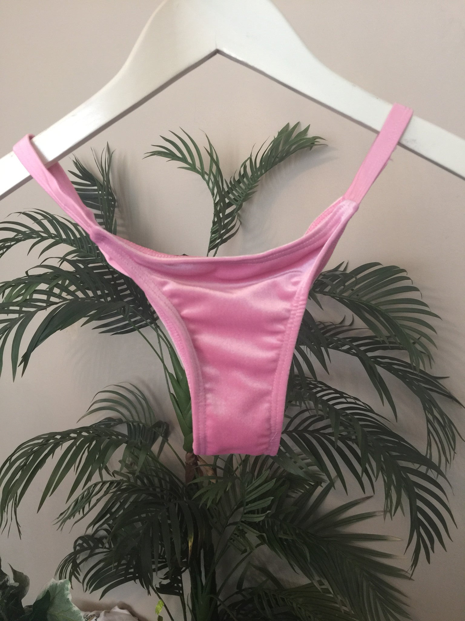 Crushed Velvet Bottom - Pink