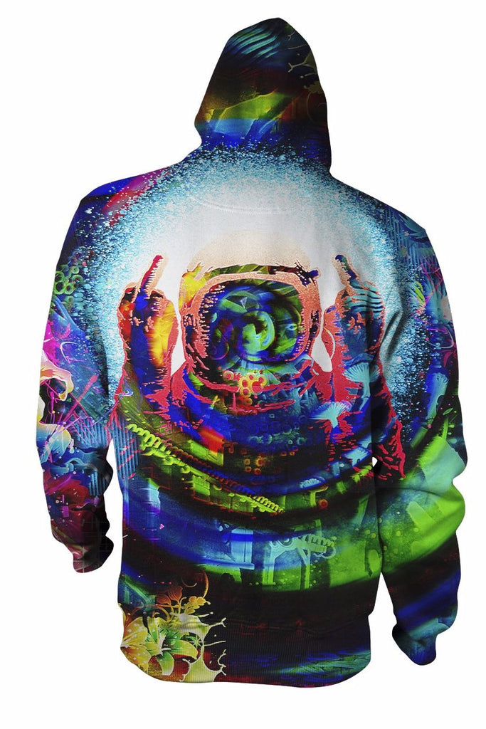 Psychedelic Finger To The Sky Hoodie