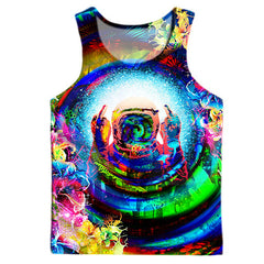 Psychedelic Finger To The Sky Men's Tank