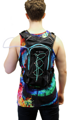 LED Blue Hydration Festival Backpack