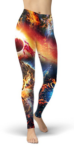 Galaxy On Fire Leggings