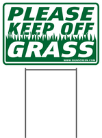 PLEASE KEEP OFF GRASS 8