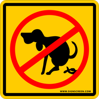 "NO DOG POOPING signs 12""x 12""  2-PACK Out door yard signs with Meta Stakes FREE SHIPPING"