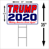 Donald Trump For President 2020 Camp Lg Outdoors Yard Sign 2 sided w/stake. FREE SHIPPING