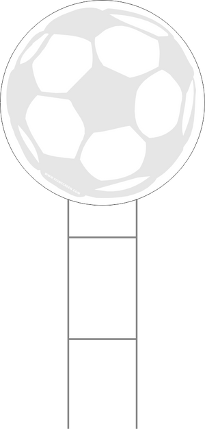 Soccer Ball Yard Sign Blank Sponsor 18 Inch Starting at $2.99 FREE SHIPPING