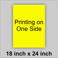 18x24 Yellow Corrugated Plastic Yard Sign With you logo or Message