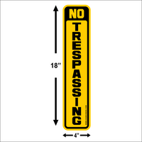 NO Trespassing Signs~POSTED~12 Pack~NO Hunting~Medium Tree/Post Signs FREE SHIPPING