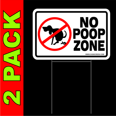 NO DOG POOPING signs 12
