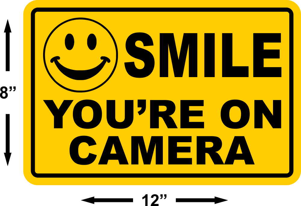 Highway Signs For Sale >> SMILE YOU'RE ON CAMERA Yellow Business Security Sign CCTV ...