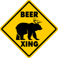BEER CROSSING~Funny Novelty Xing Gift Sign 16