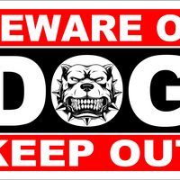 "BEWARE OF DOG KEEP OUT"" SECURITY WARNING SIGN 8""X12 $6.99 FREE SHIPPING"