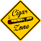 "CIGAR ZONE Xing Sign Funny Novelty 16""x16"" LARGE FREE SHIPPING"