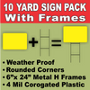 SIGN BLANKS Yellow Medium Yard Lawn Signs with H-Stakes DIY~Sign Kit (10 PACK) FREE SHIPPING