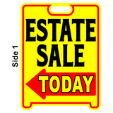 Estate Sale Sign Sandwich Board~Free Standing~Weather Proof~High Visibility