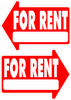 For Rent Yard Sign Arrow Shaped With Frame Statrting at $8.95 FREE SHIPPING