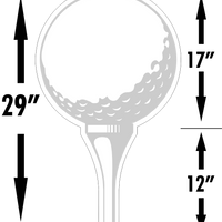 Golf Ball Sponsor Tee Large Yard Sign W/Tee Starting at $3.83 FREE SHIPPING