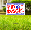KID ROCK Campaign Sign US SENATE MICHIGAN YARD SIGN With Frame FREE SHIPPING
