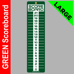 LARGE Green 6x23 SCOREBOARD, Washers, Cornhole, Horseshoes, Bocce Ball