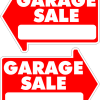 Garage Sale Yard Sale Rummage sale Yard Sign Arrow Shaped With Frame Starting at $8.95 FREE SHIPPING