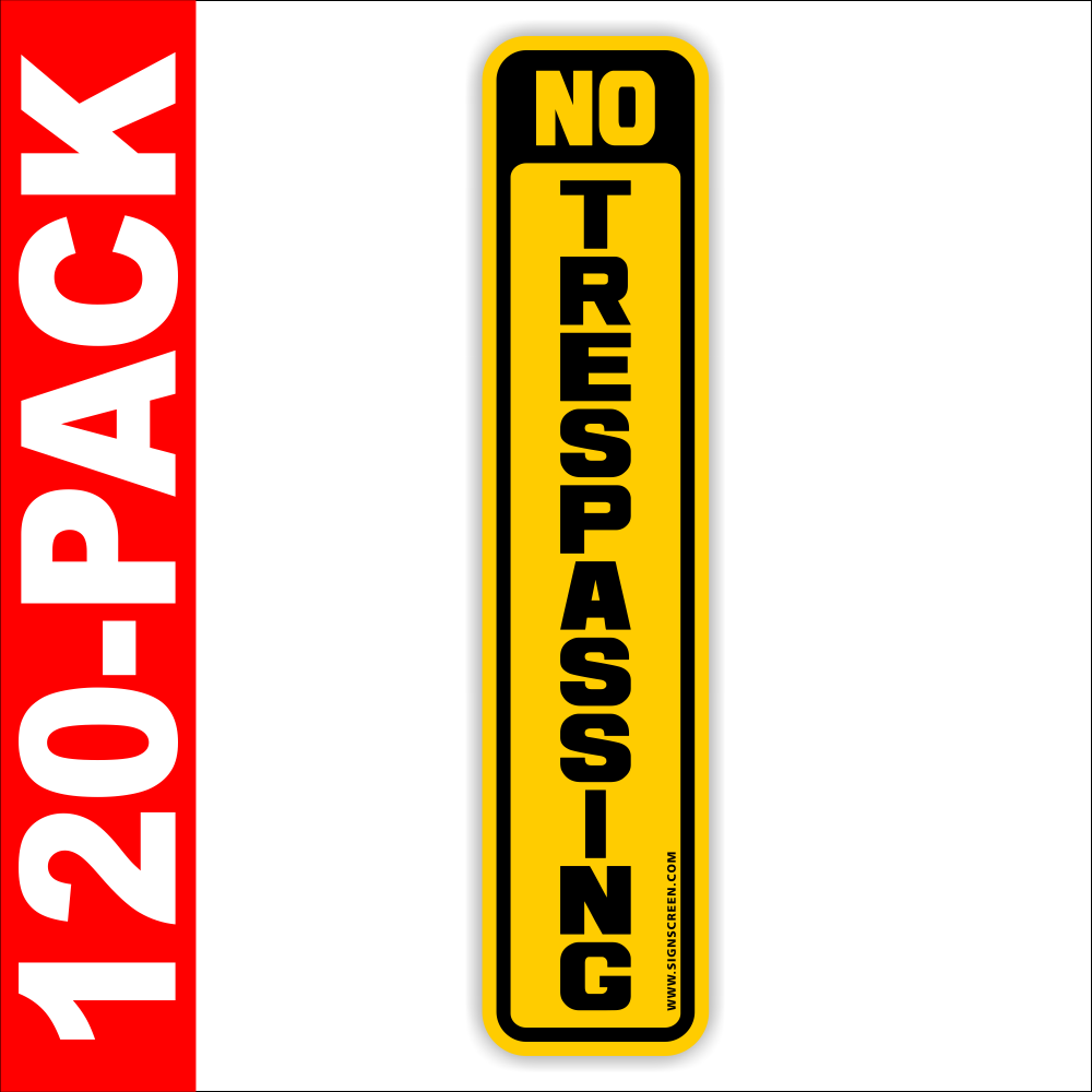 Trespassing Signs~POSTED~120 Pack~NO Hunting~Medium Tree/Post Signs FREE SHIPPING