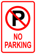 No Parking Sign 12x18