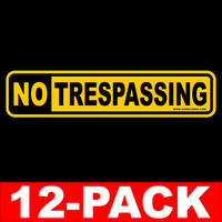 NO Trespassing~POSTED~12 Pack~Sign~NO Hunting~Medium FREE SHIPPING