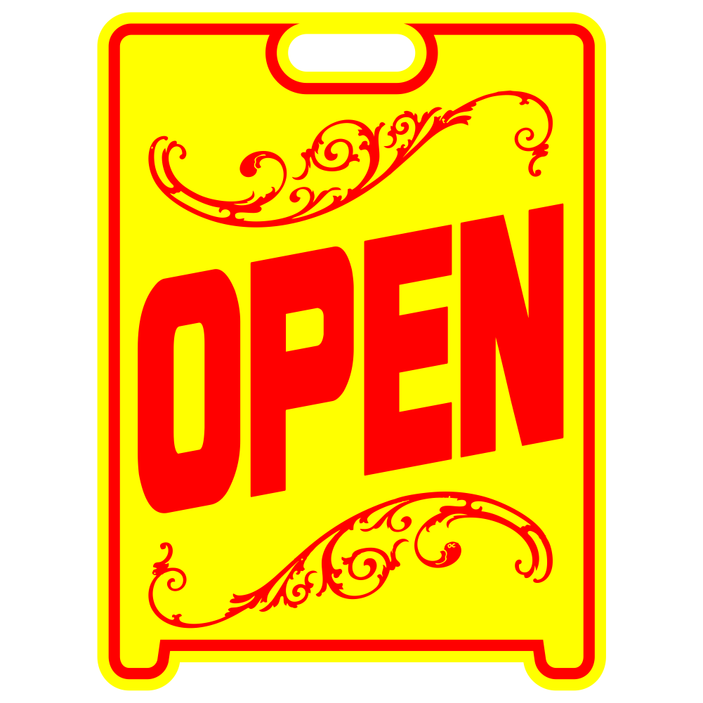 OPEN Sign Sandwich Board~Free Standing~Weather Proof~High Visibility