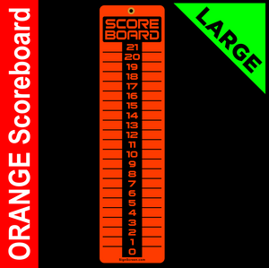 LARGE Orange 6x23 SCOREBOARD, Washers, Cornhole, Horseshoes, Bocce Ball