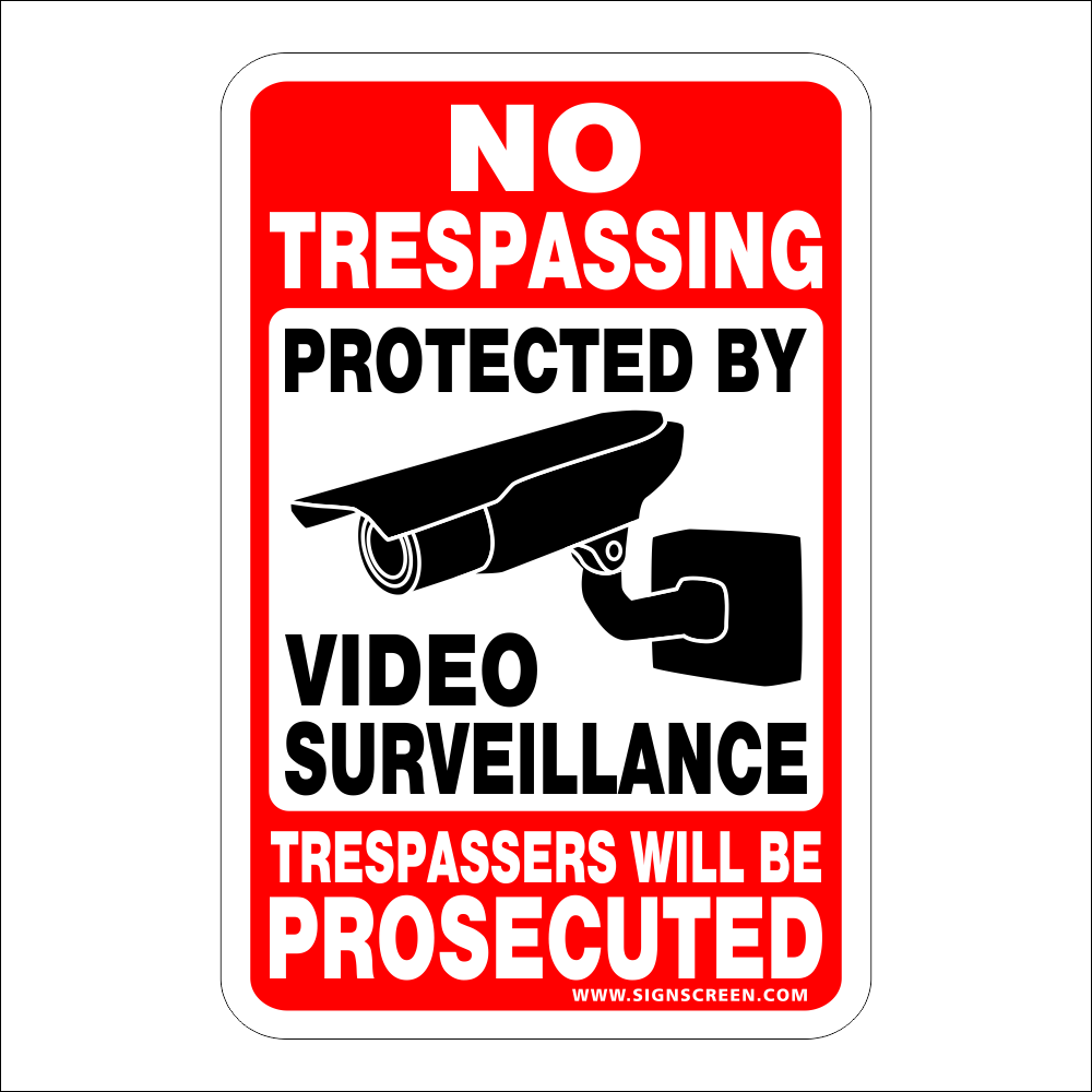 NO Trespassing~Video Surveillance Sign $3.99 24 hr video cctc FREE SHIPPING