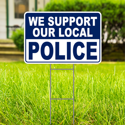 We Support Our Police Large 18