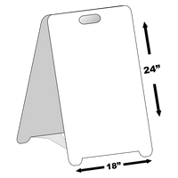 BLANK Sign~Sandwich Board~Free Standing~Weather Proof~High Visibility~DIY
