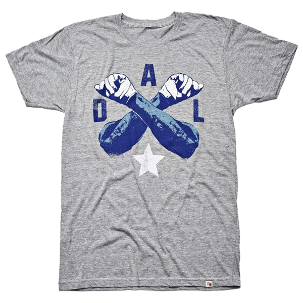Local Revere Dallas Cowboys Football Sport Big D Throw Up The X Dal X Vintage Shirt Grey
