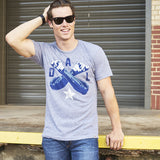 Local Revere Dallas Cowboys Football Sport Big D Throw Up The X Dal X Vintage Shirt Grey Mens