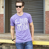 Local Revere Fort Worth F-Dub Nation Horned Frogs TCU Texas Christian University Texas Football Sport Locales Vintage Shirt Purple Mens