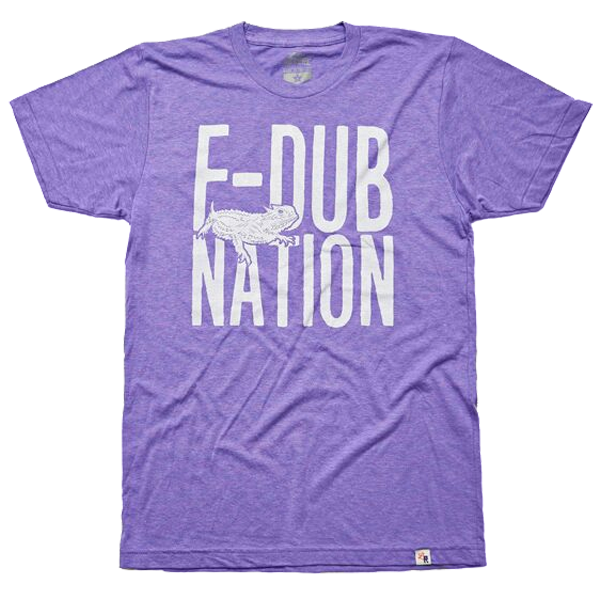Local Revere Fort Worth F-Dub Nation Horned Frogs TCU Texas Christian University Texas Football Sport Locales Vintage Shirt Purple