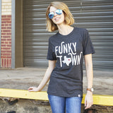 Local Revere Fort Worth Funky Town Texas Locales Vintage Shirt Black Womens