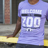 Local Revere Fort Worth Welcome To The Zoo Riff Ram Bah Zoo Amon G Carter Stadium TCU Texas Christian University Texas Football Sport Vintage Shirt Purple Unisex
