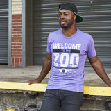 Local Revere Fort Worth Welcome To The Zoo Riff Ram Bah Zoo Amon G Carter Stadium TCU Texas Christian University Texas Football Sport Vintage Shirt Purple Mens