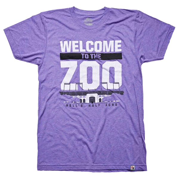 Local Revere Fort Worth Welcome To The Zoo Riff Ram Bah Zoo Amon G Carter Stadium TCU Texas Christian University Texas Football Sport Vintage Shirt Purple