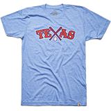 Local Revere Texas Rangers Texas Baseball Never Ever Quit Sport Arlington Vintage Shirt Blue