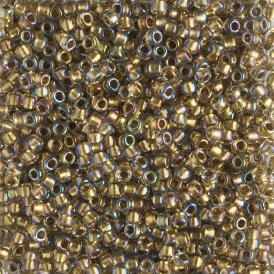 15/0 Color Lined Crystal Gold (Toho)