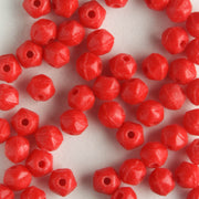 3mm English Cut Matte Opaque Red