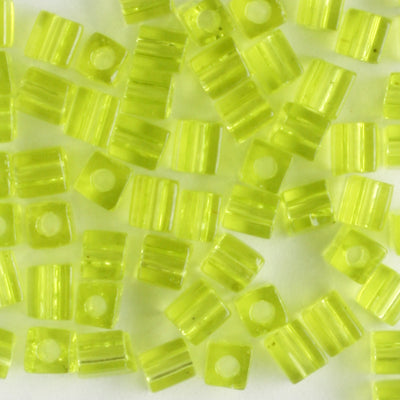 3mm Cube Transparent Lime