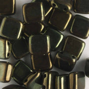 2 Hole Tile Metallic Olive (CzechMates)