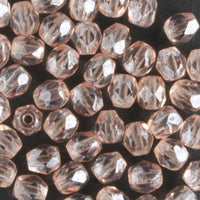 4mm Round Fire Polish Rose Pink Luster