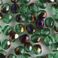 4mm Round Fire Polish Green Zarit