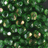 4mm Round Fire Polish Kelly Green Clarit